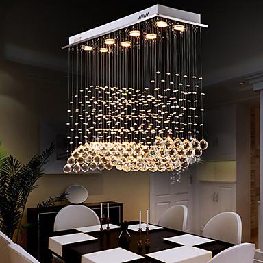 8-Light Crystal Chandelier Downlight - Crystal, Bulb Included, Designers, 110-120V / 220-240V, Warm White / Cold White, Bulb Included