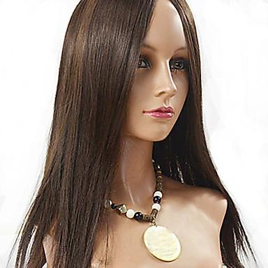 povoljno Perike i ekstenzije-Ljudska kosa Full Lace Perika stil Euroazijska kosa Ravan kroj Perika 130% Gustoća kose Žene Dug Perike s ljudskom kosom