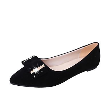 Naisten Kengät Mokkanahka Kesä Sandaalit Kävely Kiilakantapää Pyöreä kärkinen Split Joint varten Musta Beesi Sininen Pinkki