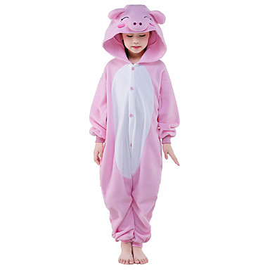 للأطفال بيجاما كيجورومي خنزير بيجاما ونزي القطبية ابتزاز زهري تأثيري إلى الأولاد والبنات ملابس للنوم الحيوانات رسوم متحركة عطلة / عيد ازياء