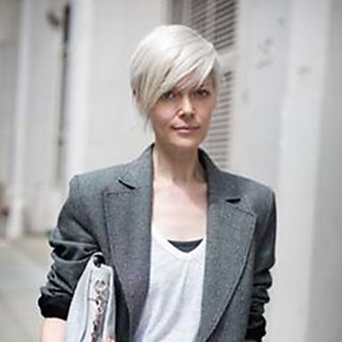 Emberi hajszelet nélküli parókák Emberi haj Hot eladó / Oldalsó rész Rövid Géppel készített Paróka Női