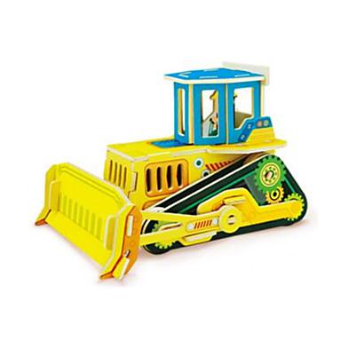 voordelige 3D-puzzels-RUOTAI 3D-puzzels Voertuigen Vorkheftruck Puinen 1 pcs Bulldozer Kinderen Volwassenen Speeltjes Geschenk