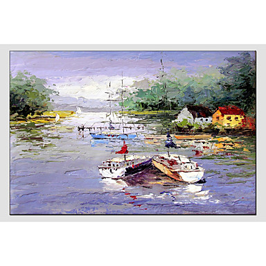 Oil Painting Hand Painted - Landscape Comtemporary Canvas