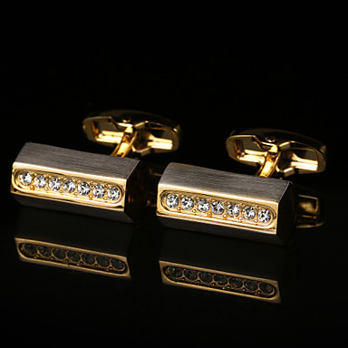Geometric Golden Cufflinks Pattern Men's Costume Jewelry