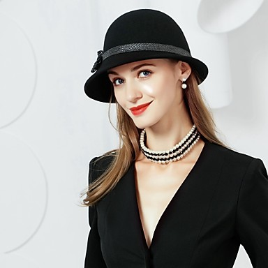 Wool Hats with 1 Special Occasion / Party / Evening Headpiece