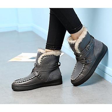 Gris Chaussures Bottes Femme Bout de Bottes Hiver 06294609 Noir pointu neige Cuir tZwdrwqv
