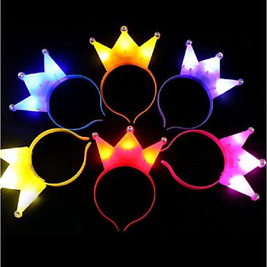 1pc izzó fény korona xmas led light headwear születésnapi party fejpánt gyermekek ajándék ramdon szín