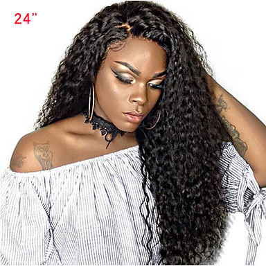 Human Hair Lace Front Wig Side Part with Baby Hair style Brazilian Hair  Curly Weave Wig 250% Density Women s Medium Length Human Hair Lace Wig  SunnyQueen 3668352125