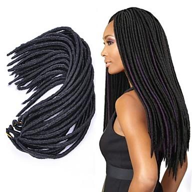 Hajfonás afro / Havanna Twist Zsinór 100% kanekalon haj / Kanekalon 1db Hair Zsinór Közepes / Hosszú Krokett raszta