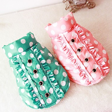 Dog Vest Dog Clothes British Green / Pink Down / Cotton Costume For Pets Casual / Daily