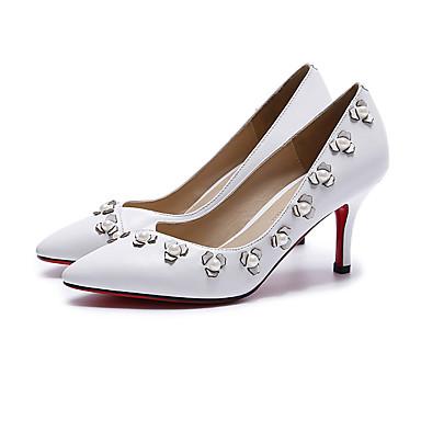 Chaussures Chaussures Rose Blanc Noir à 06303257 Escarpin Nappa Basique Automne Printemps Talons Cuir Femme dqx7Bd