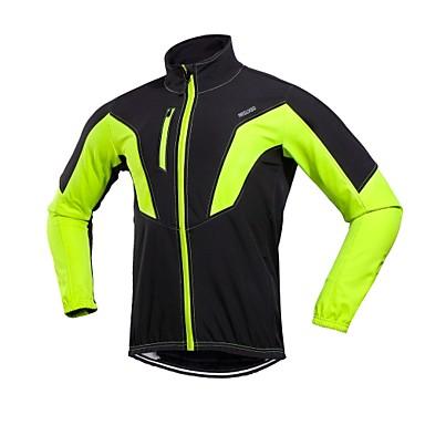 bf801cc26 Arsuxeo Men s Cycling Jacket Bike Winter Jacket Windproof Sports Winter Red    Green   Blue Mountain