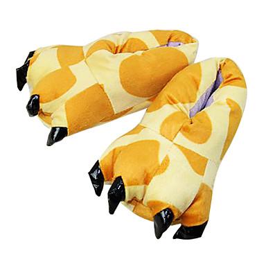 Kigurumi-Hausschuhe Giraffe Pyjamas-Einteiler Kostüm Polyester / Baumwolle Gelb Cosplay Für Erwachsene Tiernachtwäsche Karikatur Halloween