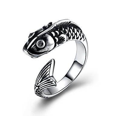 voordelige Herensieraden-Heren Statement Ring обернуть кольцо Zilver Roestvast staal Titanium Staal Cartoon Modieus Ceremonie Club Sieraden Dolfijn Dier