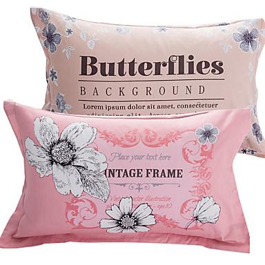 levne Sady povlečení-Polštářový potah - 100% bavlna Reaktivní barviva Květinový Povlaky na polštáře 2 ks
