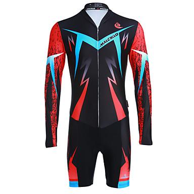 06383b56a2 Malciklo Men's Long Sleeve Triathlon Tri Suit Black British Camo / Camouflage  Bike Breathable Quick Dry