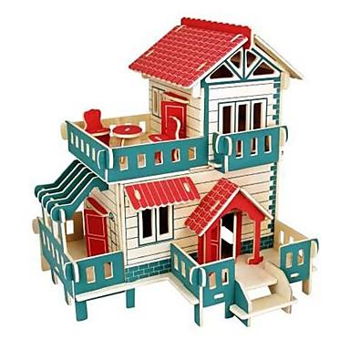 voordelige 3D-puzzels-3D-puzzels Legpuzzel Houten modellen Modelbouwsets Huizen Mode Kasteel Huis Klassiek Mode Nieuw Design Kinderen DHZ Hot Sale Hout 1pcs