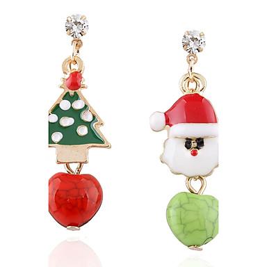 Női Nem egyező Rendhagyó fülbevalók - Strassz Túlméretezett Zöld Kompatibilitás Karácsony / Színpad