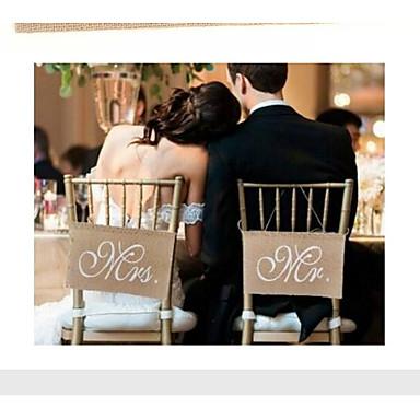 Egyedi esküvői dekor Len / Vegyes anyag Esküvői dekoráció Esküvő / Eljegyzés / Menyegző Klasszikus téma Minden évszak