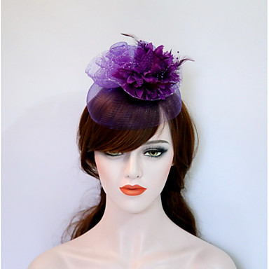 Gemstone & Crystal / Tulle / Fabric Fascinators / Flowers / Headpiece with Crystal / Feather 1 Wedding / Party / Evening / Event / Party Headpiece