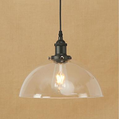 Pendant Light Ambient Light Metal Glass Mini Style, Bulb Included, Eye Protection 110-120V / 220-240V Bulb Included / E26 / E27