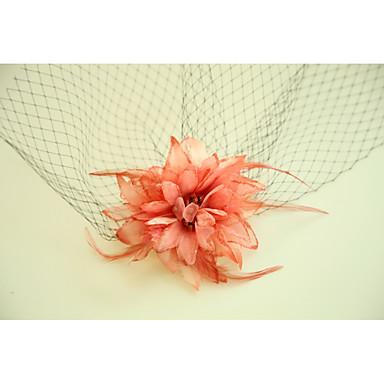 Tüll / Anyag / Nettó Virágok / Birdcage Veils val vel Toll 1 Esküvő / Különleges alkalom / Party Sisak