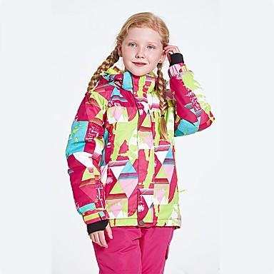 Dla dziewczynek Kurtka narciarska Wodoodporny Keep Warm Wiatroodporna Zdatny do noszenia Oddychalność Narciarstwo Polyster
