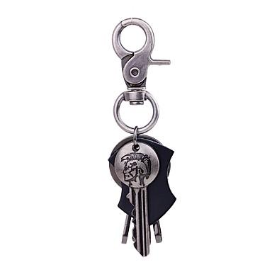 Łańcuszek do kluczy Biżuteria Silver Nieregularny Skórzany Stop Podstawowy Codzienny Ulica Męskie