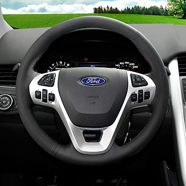 Pokrowce na kierownicę Skóra 38 cm Czarny / Czerwony Na Ford Fiesta / Ecosport Wszystkie roczniki