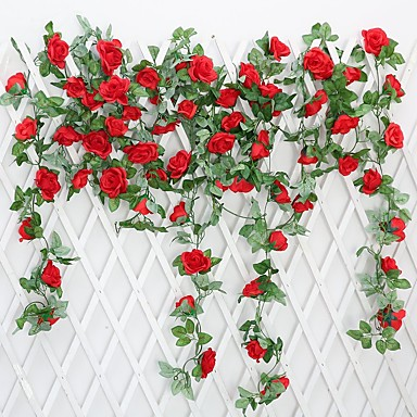 1 Gałąź Poliester Roses Bukiety na stół Sztuczne Kwiaty