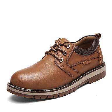 Męskie Komfortowe buty Skóra bydlęca Wiosna Adidasy Jasnobrązowy / Ciemnobrązowy