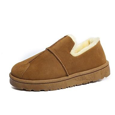 Damskie Obuwie Nubuk Zima Comfort Mokasyny i pantofle Okrągły Toe na Casual Black Gray Brown Ciemnozielony