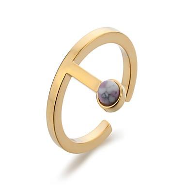 Damskie mankiet Pierścień - Miedź, Pozłacane Crown Shape Gold