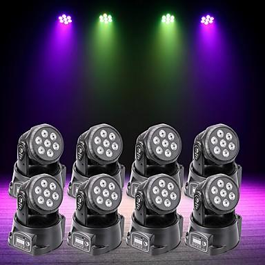 U'King 8szt Oświetlenie LED sceniczne DMX 512 Master-Slave Aktywowana Dźwiękiem Auto 70 na Klub Ślub Scena Impreza Obuwie turystyczne