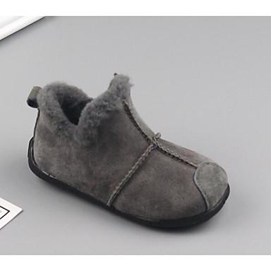 Jungen Schuhe Schweineleder Herbst Winter Komfort Stiefel für Normal Schwarz Grau Dunkelbraun