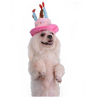 Kot Pies Kapelusze, czapki i chusty Ubrania dla psów Litera i numer Niebieski Różowy Plusz Kostium Dla zwierząt domowych nowy