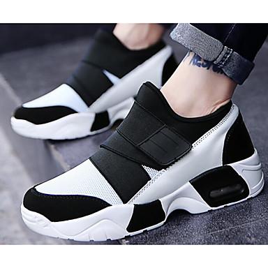 Herren Schuhe Tüll Frühling Herbst Komfort Sneakers Für Normal Weiß Schwarz Schwarz/Rot