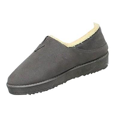 Damen Schuhe Kaschmir Winter Komfort Loafers & Slip-Ons Runde Zehe Für Normal Schwarz Grau Khaki
