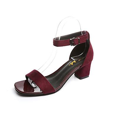 Mujer Zapatos Cuero Patentado Primavera verano Confort Oxfords Media plataforma Negro / Plateado StFIXo