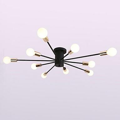 QINGMING® 10 świateł Żyrandol Światło rozproszone - Styl MIni, 110-120V / 220-240V Nie zawiera żarówek / 15-20 ㎡ / E26 / E27