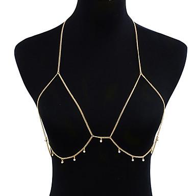 Syntetyczny diament Wzór geometryczny Łańcuch nadwozia / Belly Chain - Imitacja diamentu Duże, Gotyckie, Modny Damskie Złoty Biżuteria Na Codzienny