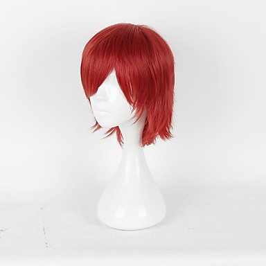 Prince of Tennis Hajime Mizuki Hombre Mujer 14 pulgada Fibra resistente al calor Rojo Animé Pelucas de Cosplay