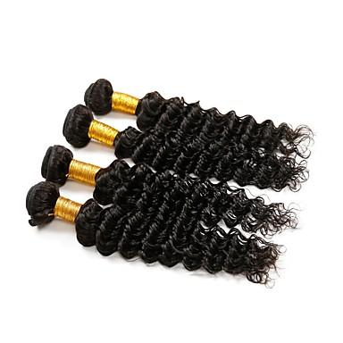 Włosy brazylijskie Włosy remy Pofalowana Ludzkie włosy wyplata 4 Człowieka splotów włosów