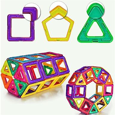 levne Magnetické kostky-Magnetický blok Stavební bloky Vzdělávací hračka 231 pcs Magnetický typ Magnetické Geometrik Chlapecké Hračky Dárek