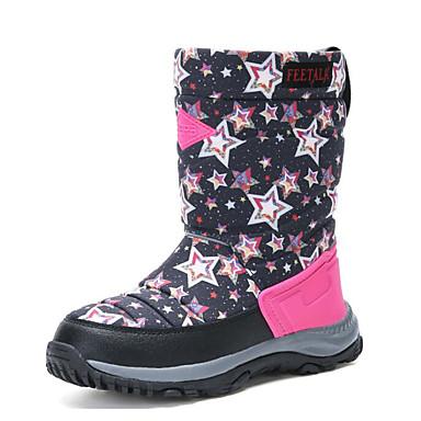 Mädchen Schuhe Leder Herbst Winter Komfort Schneestiefel Stiefel Für Normal Dunkelblau Purpur Pfirsich Grün