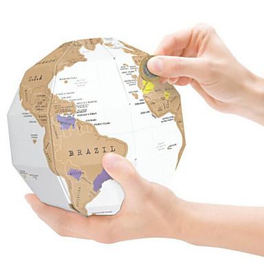 Weltkarten zum Ausmalen Kugel Karte 3D Papier Kinder Erwachsene Geschenk