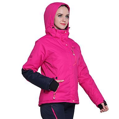 Phibee Damen Skijacken & Hosen Warm Wasserdicht Windundurchlässig tragbar Atmungsaktivität Anti-Statisch Skifahren Polyester