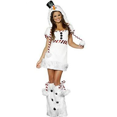 Urlaub Tier Weihnachtsmann Austattungen Damen Weihnachten Fest / Feiertage Halloween Kostüme Weiß Solide