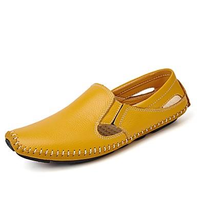 Męskie Buty PU Wiosna Jesień Mokasyny Comfort Mokasyny i pantofle na Casual White Black Yellow Niebieski