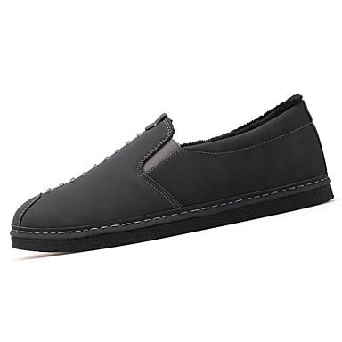 Męskie Buty PU Wiosna Jesień Comfort Mokasyny i pantofle na Na wolnym powietrzu Black Gray